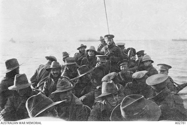 A photograph from the Anzac Landing, 25 April 1915