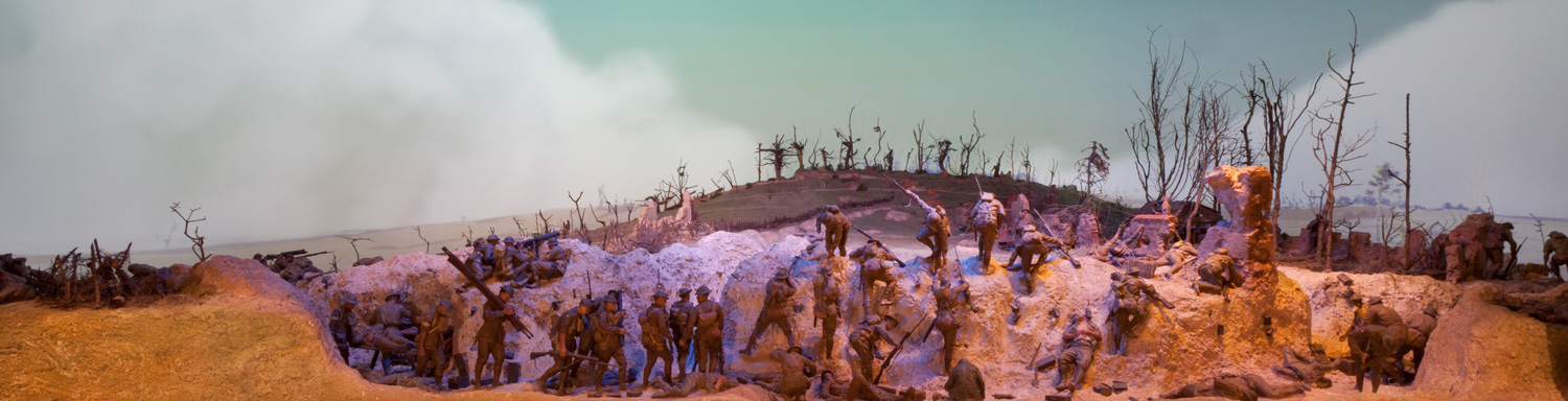 The Mont St Quentin diorama at the AWM