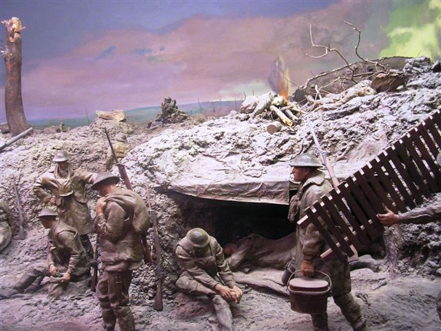 The Pozieres diorama at the AWM