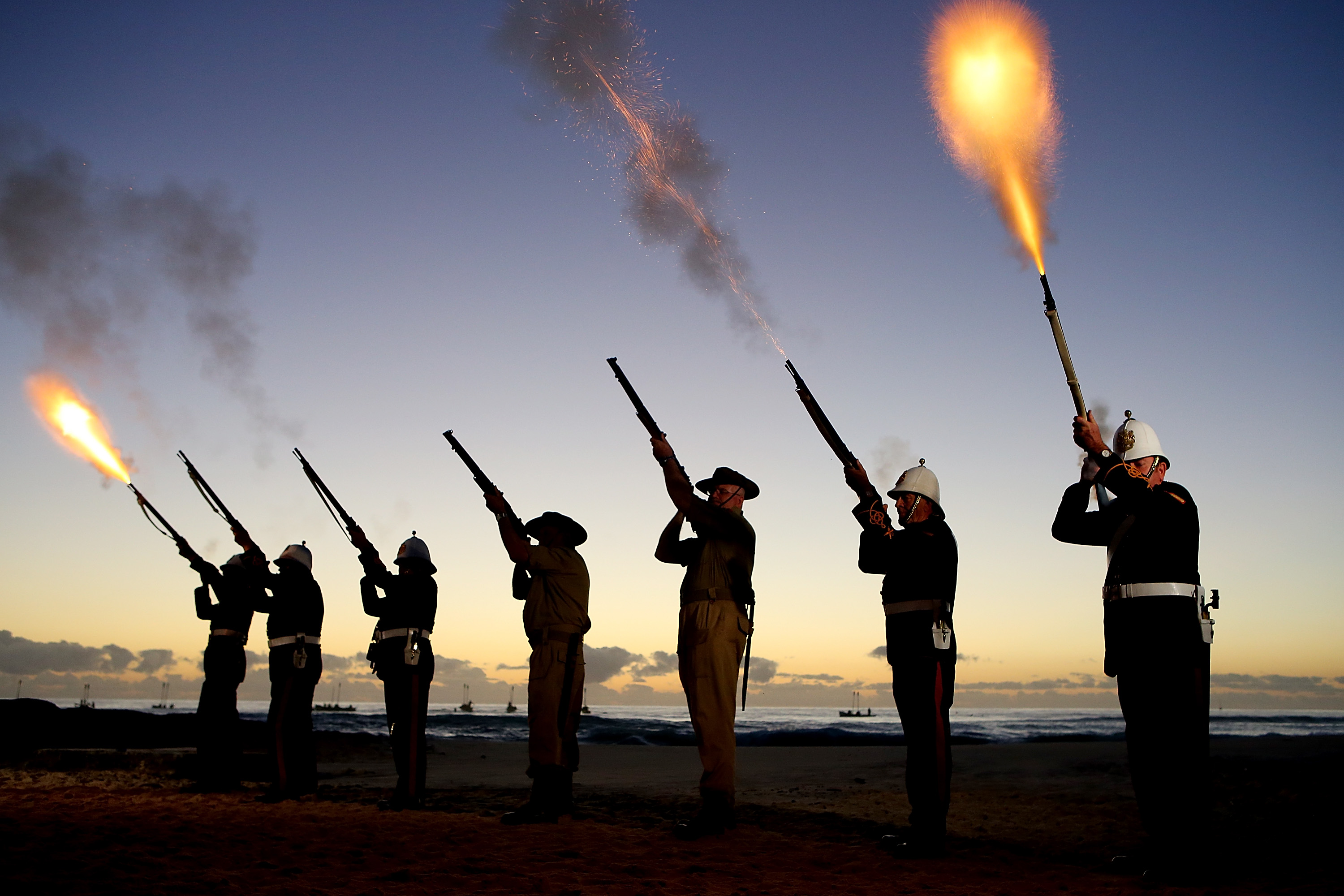 Rifle volley salute