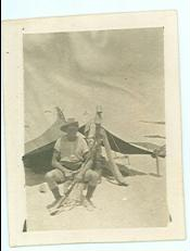 "Cleaver and his ""home"" in the desert 1917"