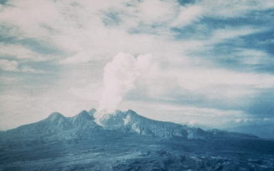 An eruption at Mount Lamington, 1951