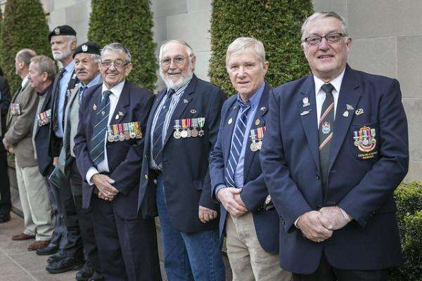 Veterans attend the Last Post Ceremony