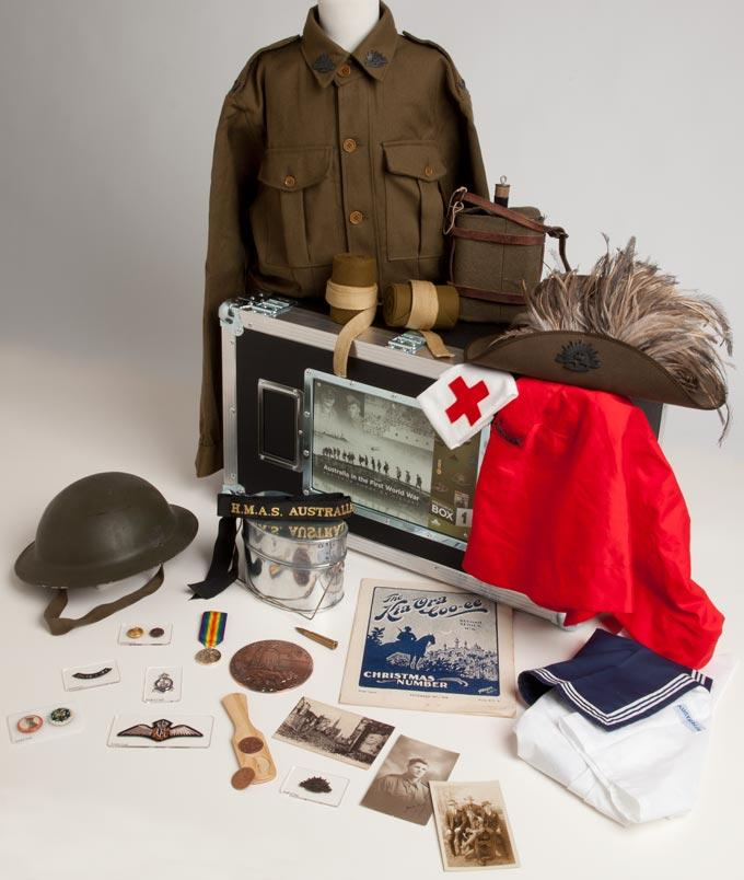 The contents of Memorial Box 1