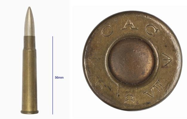 .303 Mk VII ball ammunition made by Colonial Ammunition Co., Australia