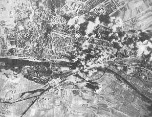 Ariel photograph of ball-bearing factories at Schweinfurt.