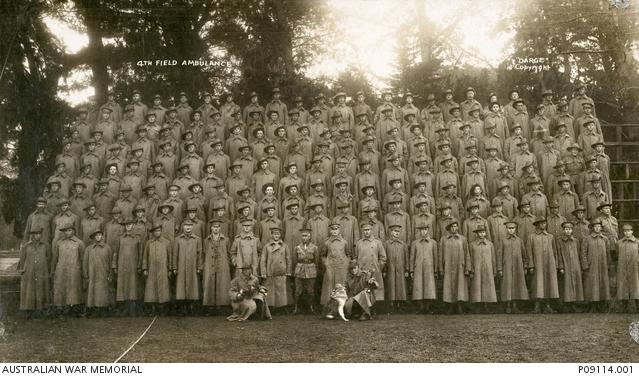 Group portrait of the 4th Field Ambulance