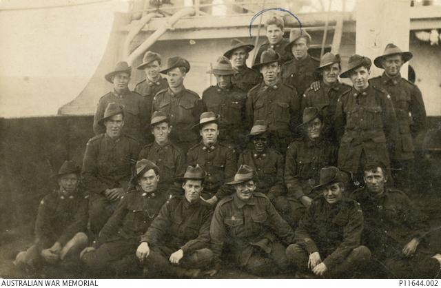 Douglas Grant amongst other soldiers