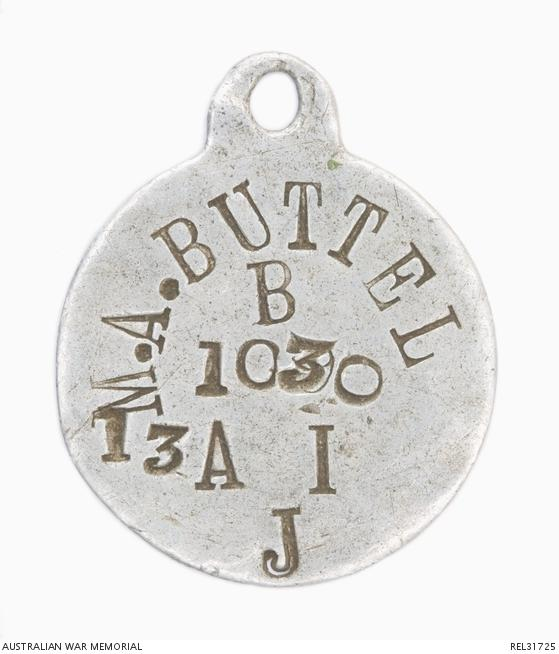 disc marked with M A BUTTEL B 1030 13 A I  J