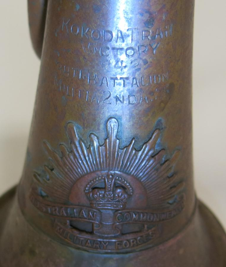 Inscription of Kokoda on bugle