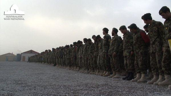 Australian Defence Forces train Afghan National Army members at Tarin Kot.