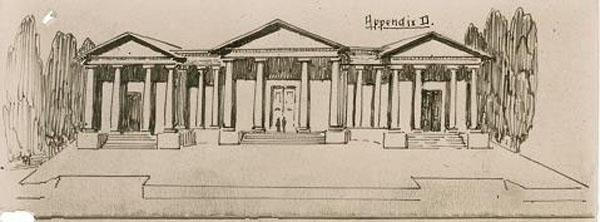 Charles Bean, Sketch proposing what Australia's national memorial might look like, 1919, File AWM170, 1/1