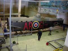 Dismantling G for George in the old Aircraft Hall