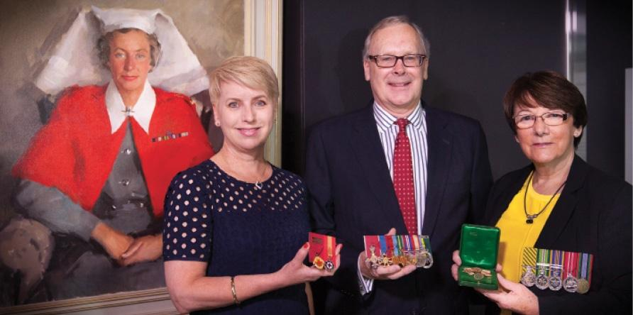 Donation of the medals of Lieutenant Colonel Vivian Bullwinkel