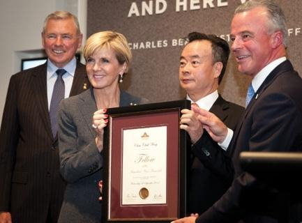 Ken Doolan with Julie-Bishop, Brendan-Nelson and Dr Chau Chak Wing