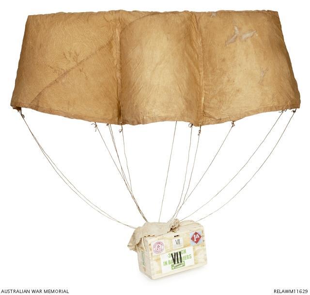Ammunition parachute used at Vaire Wood