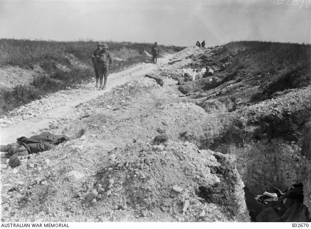 Enemy strong posts at Pear Trench