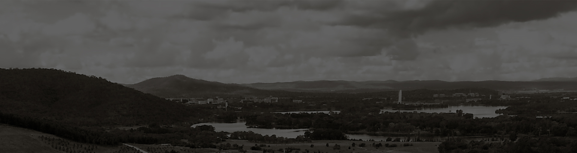 Canberra Highlands in Grayscale